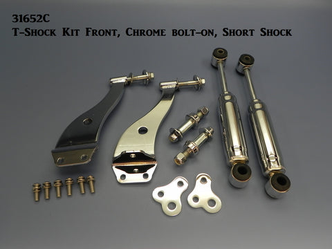 31652C T-Shock Kit, Front, Chrome, bolt-on, Short Shock