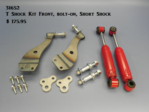 31652 T-Shock Kit, Front, bolt-on, Short Shock