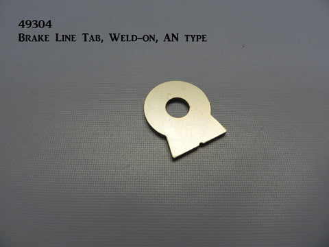 "49304 Brake Line bulkhead Tab, Weld-on, (AN type, 3/8"" hole)"
