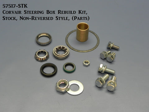 57517-STK Corvair Steering Box Rebuild Kit, Stock Style, (non-reversed), (Parts)