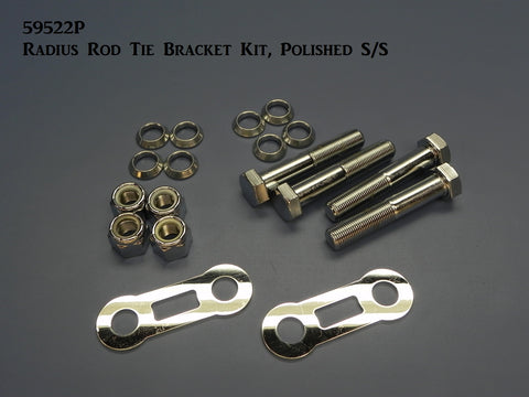 59522P Radius Rod Tie Brackets Kit, Polished Stainless Steel & Chrome