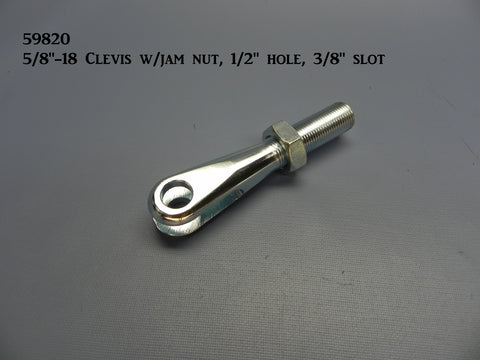 "59820 Clevis, RH Male. 5/8""-18 w/ 3/8"" slot & 1/2"" hole"