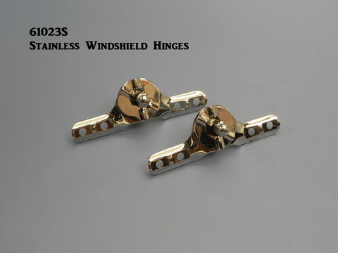 61023S Stainless Windshield Hinges