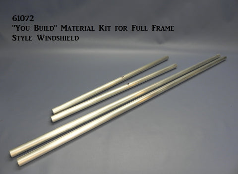 "61072 ""You Build"" Material Kit for Full Frame Style Windshield"