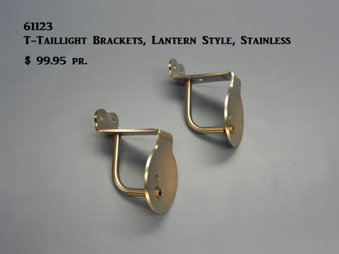 61123 T-Taillight Brackets, S/S, for Lantern Style Lights
