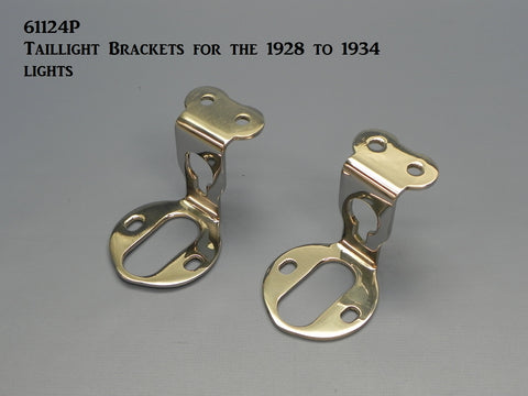 61124P Taillight Brackets for the Model A-34 Lights -Polished S/S