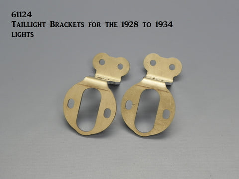 61124 Taillight Brackets for the Model A-34 Lights - Stainless Steel