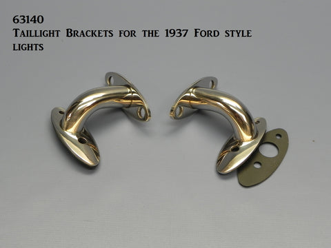 63140 Taillight Brackets, Stainless Steel, for '1937 Ford Style lights