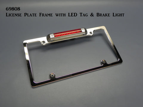 69808 License Frame, with LED Plate & Third Brake Light
