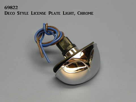 69822 Deco Style License Plate Light, Chrome