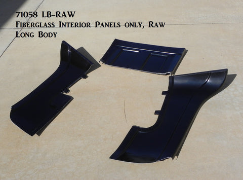 71058 LB-RAW  Fiberglass Interior Panels Only, Raw (CCR Extended Body)