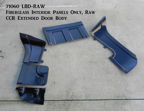 71060 LBD-RAW  Fiberglass Interior Panels Only, Raw (CCR Extended Door Body)