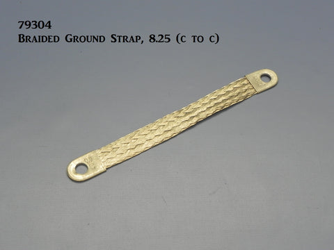"79305 Braided Ground Strap with 3/8"" eye holes, (8.25"")"