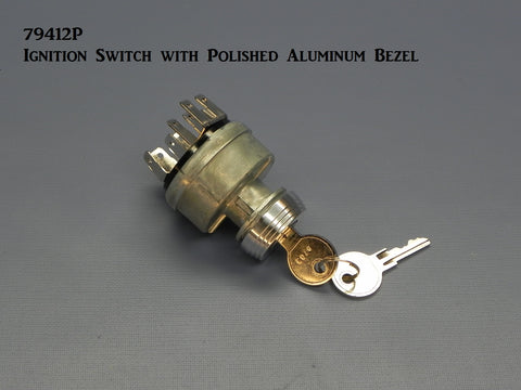 79412P Ignition Switch with Polished Bezel