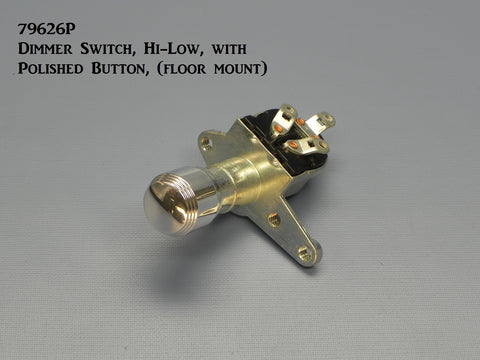 79626P Dimmer Switch, Hi-Low, with Polished Button