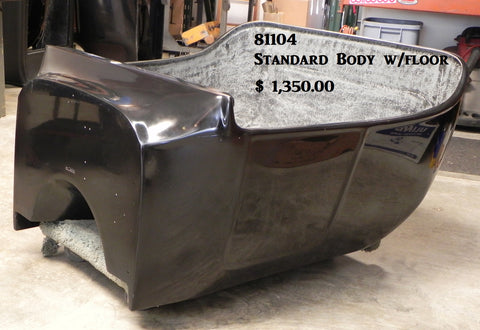 "81104 T-Bucket Body, Standard Style w/ 3"" Channeled Floor"