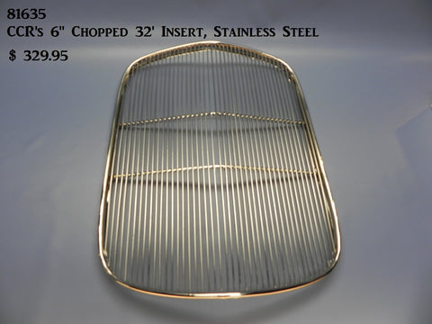 81635 Grill Insert for 32' Chopped Shell, Stainless Steel