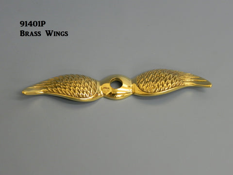 91401P Wings, Polished Brass, for radiator hex cap & moto-meter
