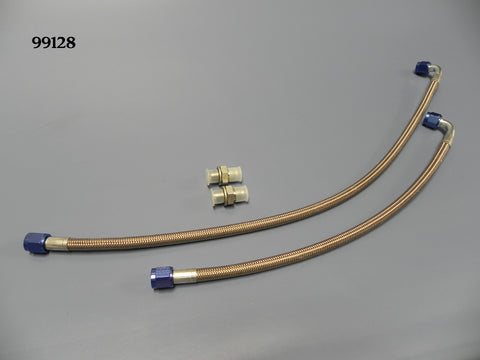 99128 Transmission Cooler Line Kit, GM TH350 Fittings and Lines