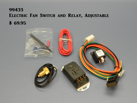 99433 Electric Fan Controller, Adjustable with Relay