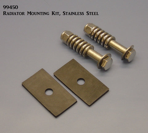 99450 Radiator Mounting Kit, S/S with Springs