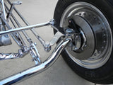 31008C T-Front Tube Axle w/Hangers, Chrome