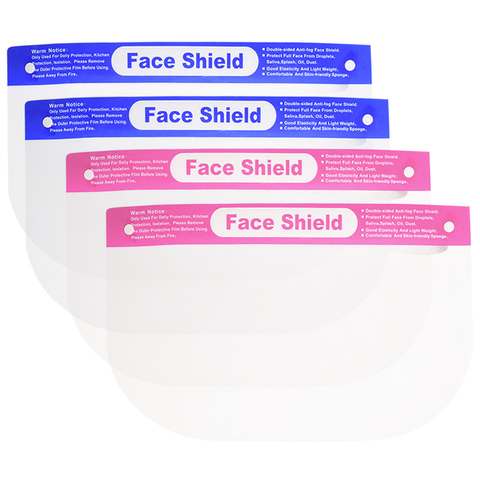 Kids Face Shield with Blue/Pink Label