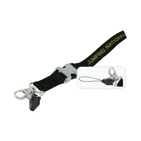 15mm Polyester Lanyard with Metal Quick Clip, Metal Hook & Handphone Hook