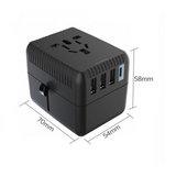 Travel Adaptor with 3 USB Hub