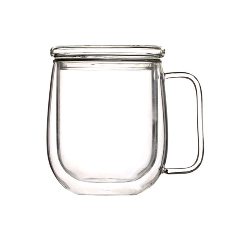350ml Double Wall Glass Mug