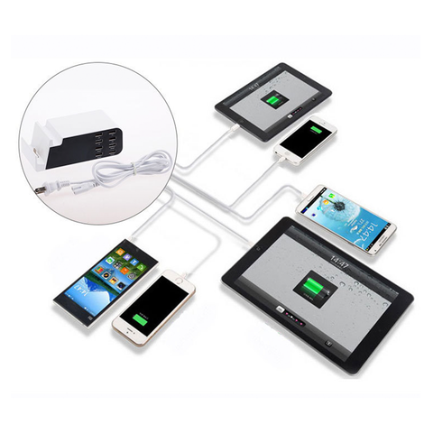 8 Port USB Charger with Stand Multi-Function Mobile Phone Charging