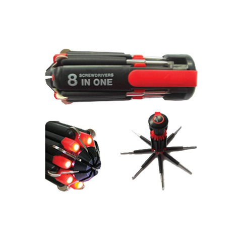 8 in 1 Tool set with LED Light