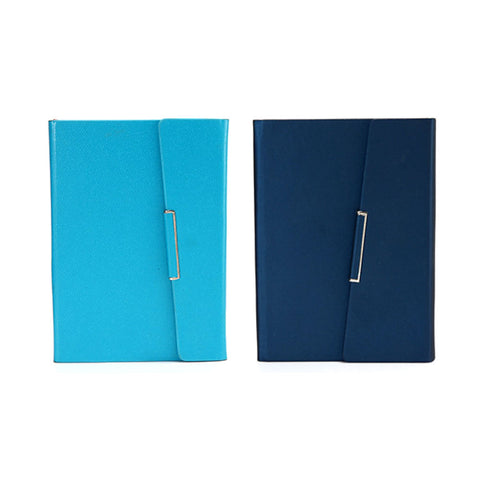 A5 Leather Tri-Fold Magnetic Buckle Notebook