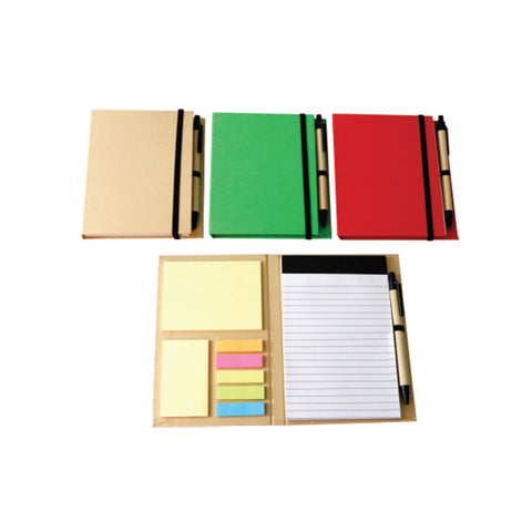 A5 Size Notebook with Sticky Pad and Pen