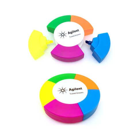 Round Shape 5 Colours Highlighter