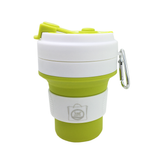 Collapsible Silicone Coffee Mug with Carabiner