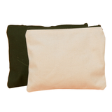 Canvas Pouch with Zipper