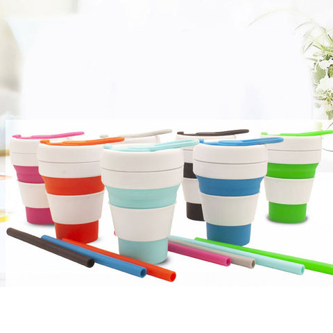 Collapsible Silicone Straw Cup