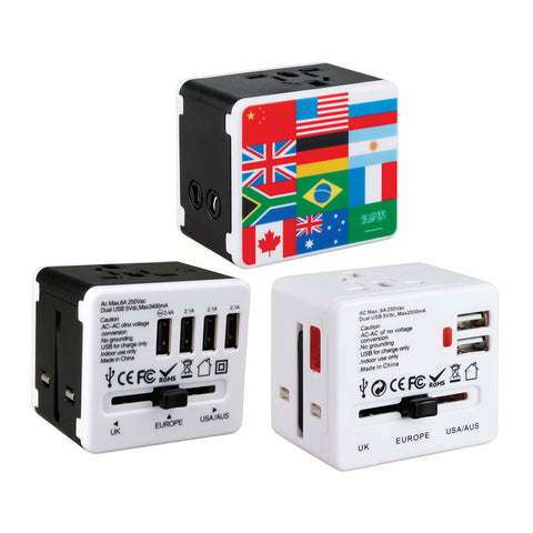 Color Printing USB Travel Adaptor