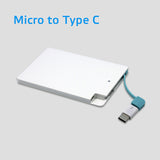 Credit Card Powerbank 2500mAh