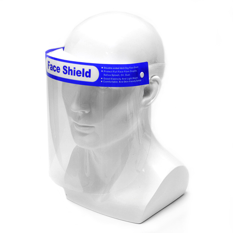 Face Shield with Blue Label