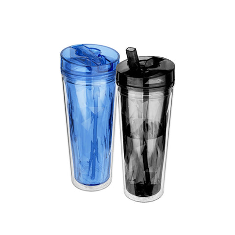 Hot & Cold Flip and Sip Geometric Tumbler
