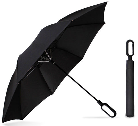 "23"" Foldable Umbrella with Carabiner Handle - YG Corporate Gift"