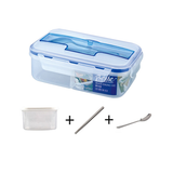 Three Grid PP Plastic Lunch Box