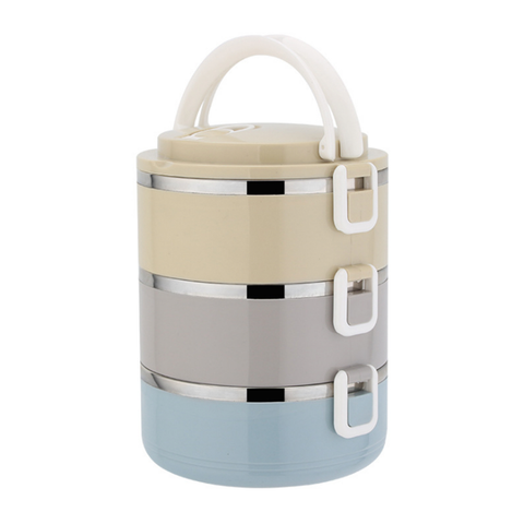 3 Tier Stainless Steel Multi-Layer Lunch Box