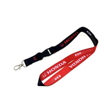 15mm Nylon Lanyard with Safety Clip, Metal Hook & Keyring