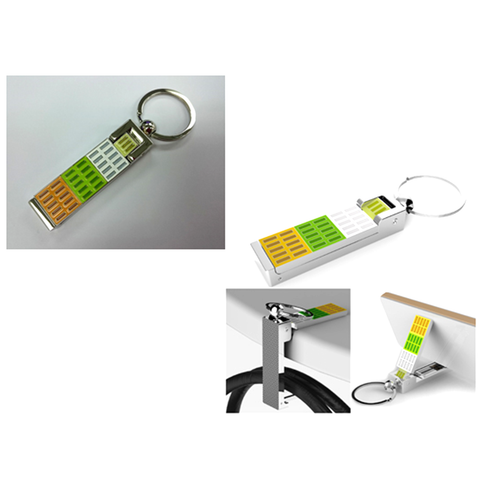 Keychain with Smart Phone Stand and Hang Bag Hanger
