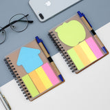 Kraft Paper diary with Post-it Pad and Pen