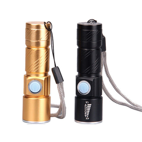 LED Aluminum Charging Mini Flash light
