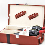 Leather Wine Gift Set